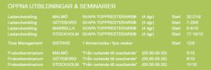 Utbildningar o seminarier Internova