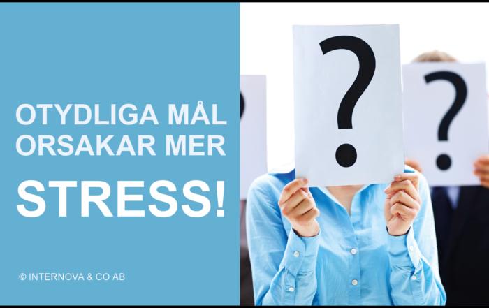 Bloggbild - Otydliga mål orsakar mer stress