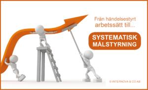 Från händelsestyrt arbetssätt till systematisk målstyrning - Internova