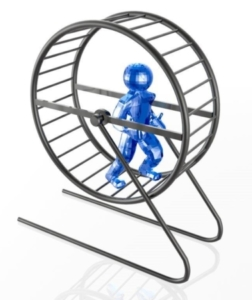 skillnaden mellan chefskap och ledarskap - ekorrhjulet