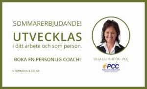 Boka en personlig coach - Sommarerbjudande