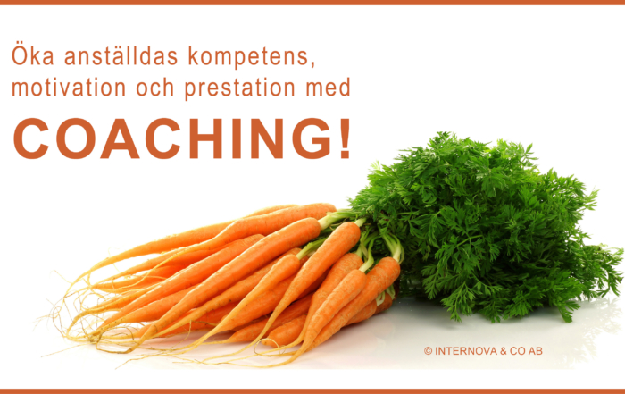 Januari - Öka anställdas motivation kompetens och prestation med coaching - Internova